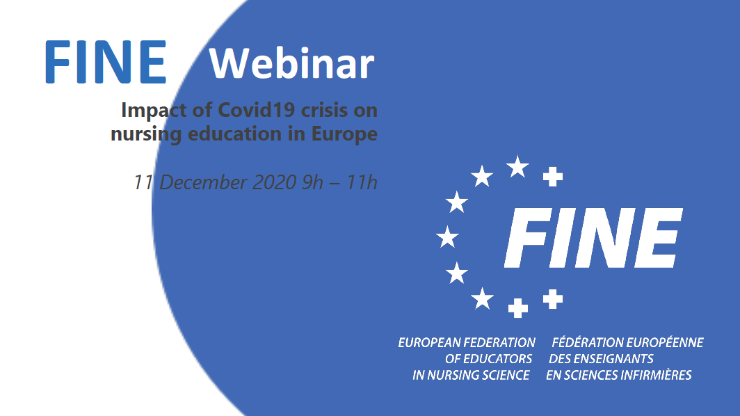 """FINE Europe Webinar : """"Impact of Covid19 crisis on nursing education in Europe"""" – Conclusions"""
